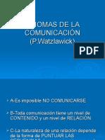 Axiomas de La Comunicaci%d3n (p
