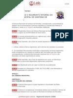 Regimento Interno 1 2002 Santana de Parnaiba SP