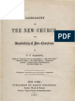 B F Barrett CATHOLICITY of THE NEW CHURCH and Uncatholicity of New-Churchmen New York 1863