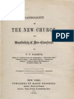B F Barrett CATHOLICITY of THE NEW CHURCH and Uncatholicity of New-Churchmen New York 1863