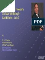 SolidWorks Freeform Modeling 3