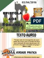 Lição 1 a Epístola Aos Romanos Site