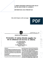 Economics of Carbon Dioxide Supplies for Use in Enhanced Oil Recovery in Alberta