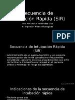 Secuencia de Intubación Rápida (SIR)
