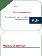 Obras de Saneamento -  Procedimentos para medição de serviços