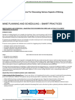Mine Planning and Scheduling – Smart Practices – Mining and Blasting