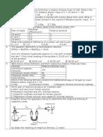 Chemistry Form 4 Quiz