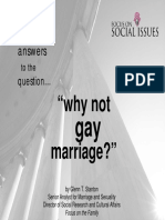 Why Not Gay Marriage