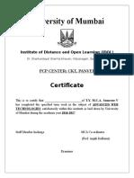 Advanced Web Technology  Practical MCA IDol | Journal