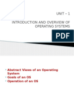 Unit-1.1 INTRODUCTION AND OVERVIEW OF OPERATING SYSTEMS