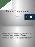 Patient Endorsement