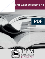 Financial And Cost Accounting | ITM University