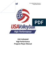 2016 USA Volleyball High Performance Player Manual