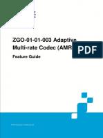 GERAN UR13 ZGO-01!01!003 Adaptive Multi-rate Codec (AMR) Feature Guide (V4)_V1.0
