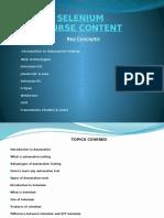 Selenium course Content