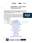 Vector Integration - GATE Study Material in PDF