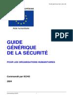Guide Generique de La Securite Pour Org Humanitaire