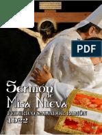 Sermón de Misa Nueva por Federico Salvador Ramón