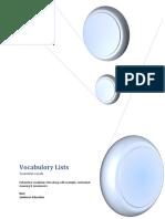 TOEFL VocabuloryLists