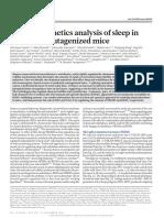 Forward-genetics Analysis of Sleep in Mutant Mice