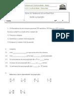 Ficha de trabalho nº 5. Razão e Proporção