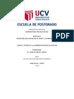 Artículo Realidad Educativa en El Perú