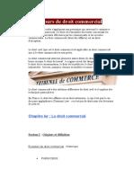 Cours de Droit Commercial