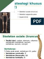Osteologi Khusus Vert&Append&Klinis Ind