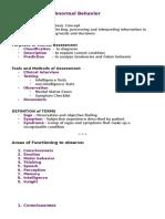 Assessment of Abnormal Behavior