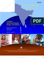 A Simple Macro Economic Model of Nepal