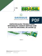 Especificao Tecnica Para Integracao CADSUS V5