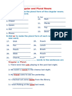 Singular and Plural Nouns Grade3