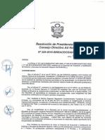 Resoluci+¦n N-¦225-2016-SINEACE-CDAH-P