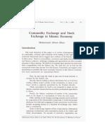 Commodity Exchange and Stock Exchange in Islamic Economy
