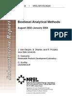 Biodiesel Analytical Methods