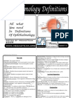 (2) Ophthalmology Definitions