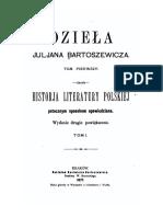 Historja Literatury Polskiej I Juljan Bartosiewicz