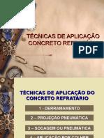 04 Técnicas de Aplicação Concreto Refratário
