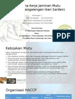 Rencana Kerja Jaminan Mutu HACCP (Pengalengan Ikan)
