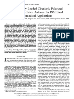 Capacitively Loaded Circularly Polarized Implantable Patch Antenna for ISM Band Biomedical Applications