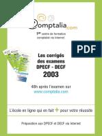 Sujet Corrige Decf Uv7 2003