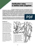 60 Water Clarification Using Moringa Oleifera Seeds