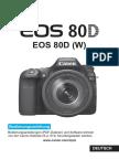 EOS 80D Instruction Manual De