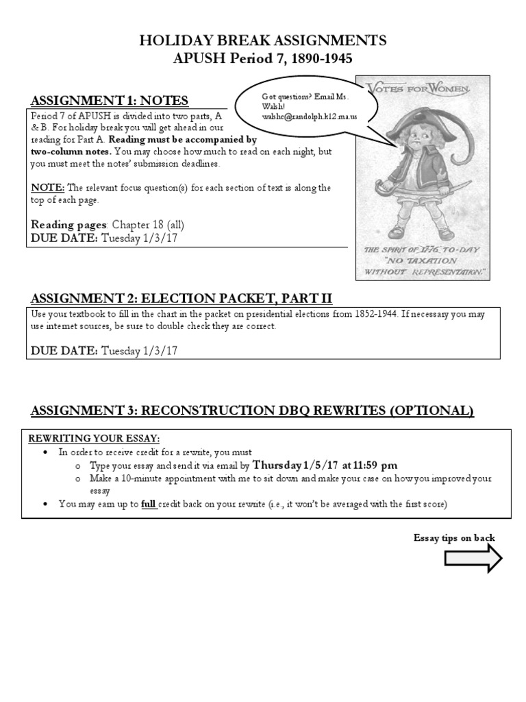 period 7 holiday break assignments walsh | Essays | Cognition
