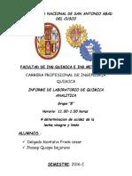 Informe de Quimica Analitica Acidesz