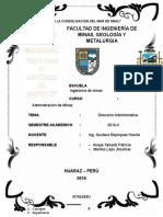Administracion de Minas Direccion