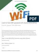 Learn to Hack WIFI Password With Ubuntu (WPA_WPA2)