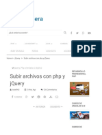 Subir Archivos Con Php y JQuery - Uno de Piera