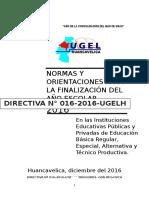 Directiva Finalización 2016 1
