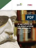 Varela Jose Pedro La Educación Del Pueblo. a 140 Años